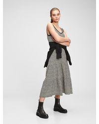 Gap Sleeveless Tiered Maxi Dress - Black