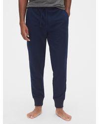 Gap Flannel Pajama Sweatpants - Blue