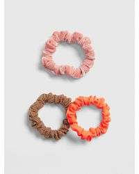 Gap Mini Mix-fabric Scrunchies (3-pack) - Multicolor