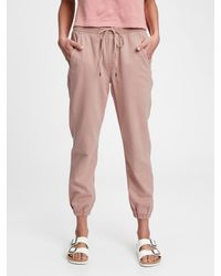 Gap Ribbed Pull-on Sweatpants With Washwelltm - Pink