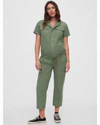 Gap Maternity Utility Jumpsuit - Green