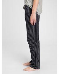 Gap Adult Pajama Pants In Poplin - Black