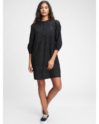 Gap Utility Pocket Eyelet Dress - Black
