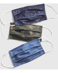 Gap Adult Unisex Full-coverage Accordion Mask (3-pack) - Blue