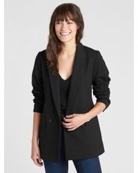 Gap Classic Girlfriend Blazer In Ponte - Black