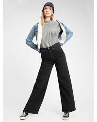 Gap Sky High Wide-leg Jeans With Washwelltm - Black