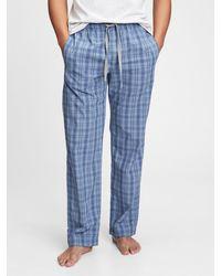 Gap Adult Pajama Pants In Poplin - Blue