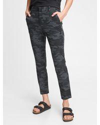 Gap High Rise Slim Ankle Pants - Black