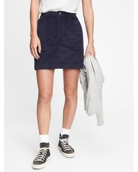 Gap Corduroy Mini Skirt - Blue