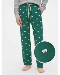 Gap Pajama Pants In Poplin - Green