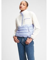 Gap Fit Fleece Puffer Jacket - Blue