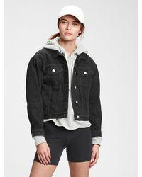 Gap Cropped Icon Denim Jacket With Washwelltm - Black