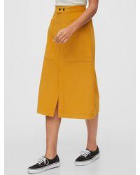 Gap A-line Corduroy Midi Skirt - Metallic