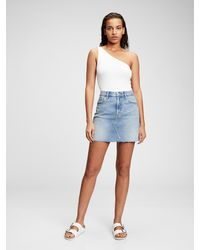 Gap Denim Mini Skirt With Washwelltm - Blue