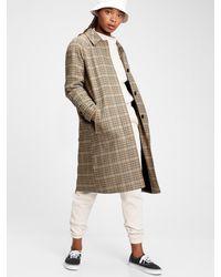 Gap Plaid Wool Coat - Brown
