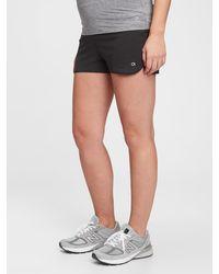 "Gap Maternity Fit 3.5"" Running Shorts - Black"