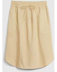 Gap Pull-on Skirt In Poplin - Natural