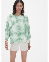Gap Vintage Soft Balloon Sleeve Tie-dye Sweatshirt - Green