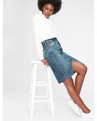 Gap Denim Pencil Skirt - Blue