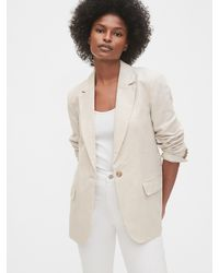 Gap Linen Blazer - Natural