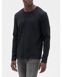 GAP Factory Long Sleeve Everyday Crewneck T-shirt - Black