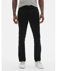 GAP Factory Lived-in Khakis In Skinny Fit With Gapflex - Black
