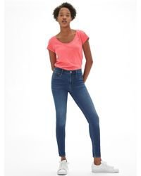 GAP Factory Mid Rise Soft Wear Legging Jeans - Blue