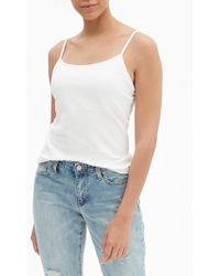 GAP Factory Fitted Shelf Cami - White