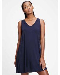 GAP Factory Sleeveless Swing Dress - Blue