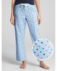 GAP Factory - Print Pants In Poplin - Lyst