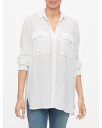 GAP Factory Long Sleeve Utility Shirt - White
