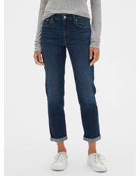 GAP Factory Mid Rise Girlfriend Jeans - Blue