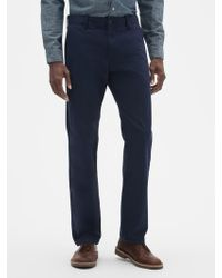 GAP Factory Lived-in Straight Khakis - Blue