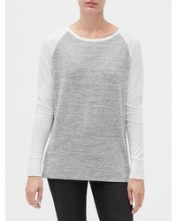 GAP Factory Softspun Colorblock Raglan T-shirt - Gray