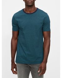 GAP Factory Everyday Micro Stripe T-shirt - Blue