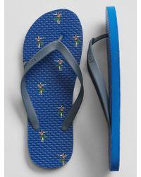 GAP Factory - Rubber Flip Flops - Lyst