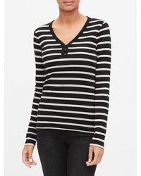 GAP Factory - Long Sleeve Henley T-shirt - Lyst