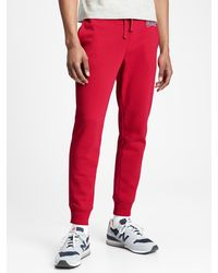 GAP Factory Gap Logo Fleece Sweatpants - Red