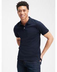 GAP Factory Stretch Pique Polo Shirt - Blue