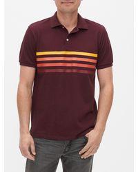 GAP Factory Pique Polo Shirt Shirt - Multicolor
