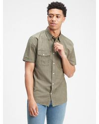 GAP Factory Short Sleeve Utility Shirt - Green