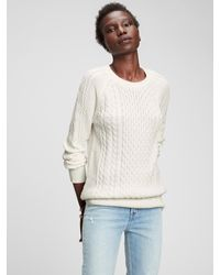 GAP Factory Cable Knit Sweater - White