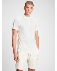 GAP Factory Lived-in Polo Shirt Shirt - White