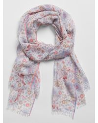 GAP Factory Oblong Edge Frayed Scarf - Multicolor