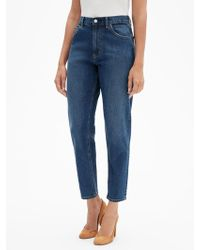 GAP Factory High Rise Mom Jeans - Blue
