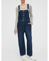 GAP Factory Button-front Overalls - Blue