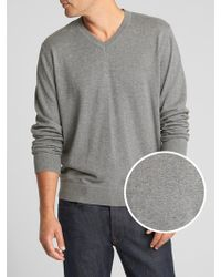GAP Factory - V-neck Sweater In Cotton - Lyst
