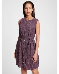 GAP Factory Sleeveless Shirtdress - Purple