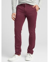 GAP Factory - Lived-in Khakis In Skinny Fit With Gapflex - Lyst