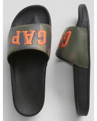 GAP Factory - Logo Slide Sandals - Lyst